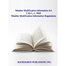 Weather Modification Information Regulations