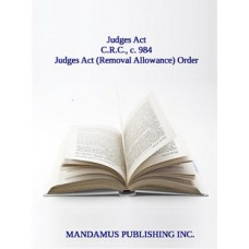 Judges Act (Removal Allowance) Order
