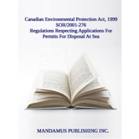 Regulations Respecting Applications For Permits For Disposal At Sea