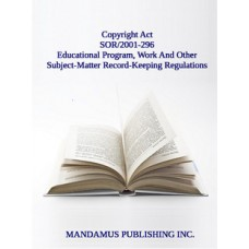 Educational Program, Work And Other Subject-Matter Record-Keeping Regulations