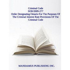 Order Designating Ontario For The Purposes Of The Criminal Interest Rate Provisions Of The Criminal Code