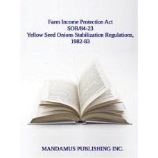 Yellow Seed Onions Stabilization Regulations, 1982-83