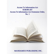 Access To Information Act Extension Order, No.1