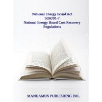National Energy Board Cost Recovery Regulations
