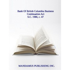 Bank Of British Columbia Business Continuation Act