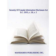 Security Of Canada Information Disclosure Act