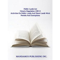 Activities On Public Lands And Shore Lands Work Permits And Exemptions