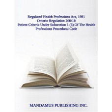 Patient Criteria Under Subsection 1 (6) Of The Health Professions Procedural Code