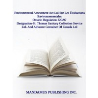 Designation-St. Thomas Sanitary Collection Service Ltd. And Advance Container Of Canada Ltd