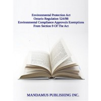 Environmental Compliance Approvals Exemptions From Section 9 Of The Act