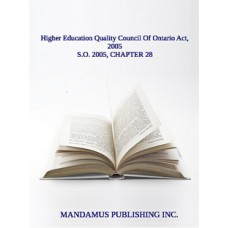 Higher Education Quality Council Of Ontario Act, 2005