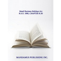 Retail Business Holidays Act