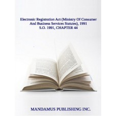 Electronic Registration Act (Ministry Of Consumer And Business Services Statutes), 1991