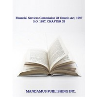 Financial Services Commission Of Ontario Act, 1997